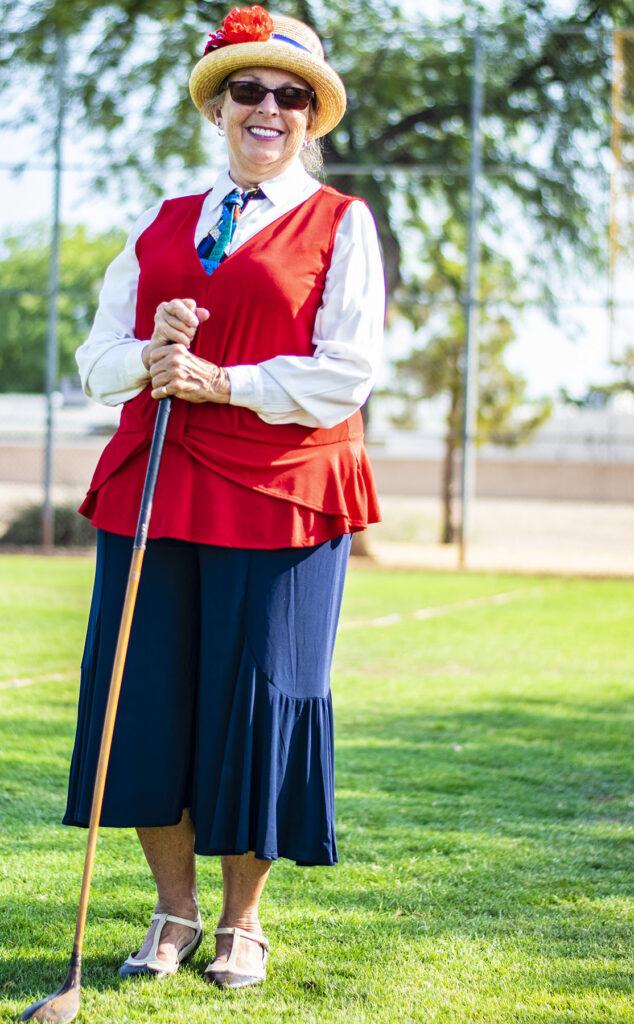 Old time golf uniform