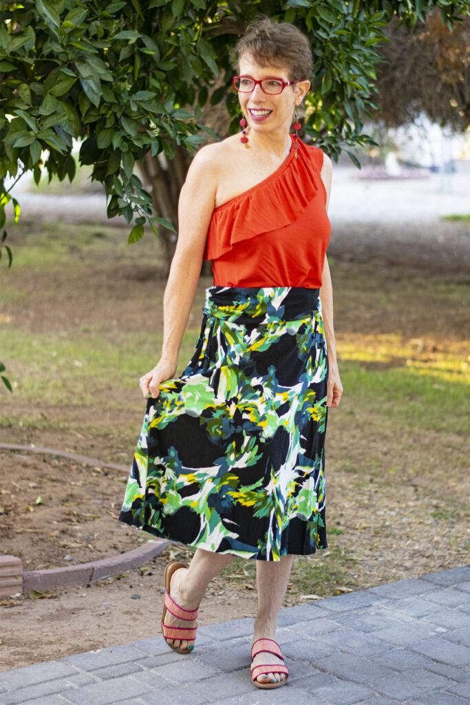 No sew way to shorten your maxi skirt