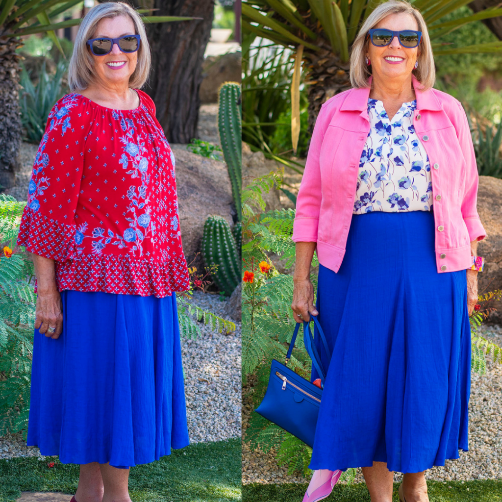 Options of tops to wear with skirts