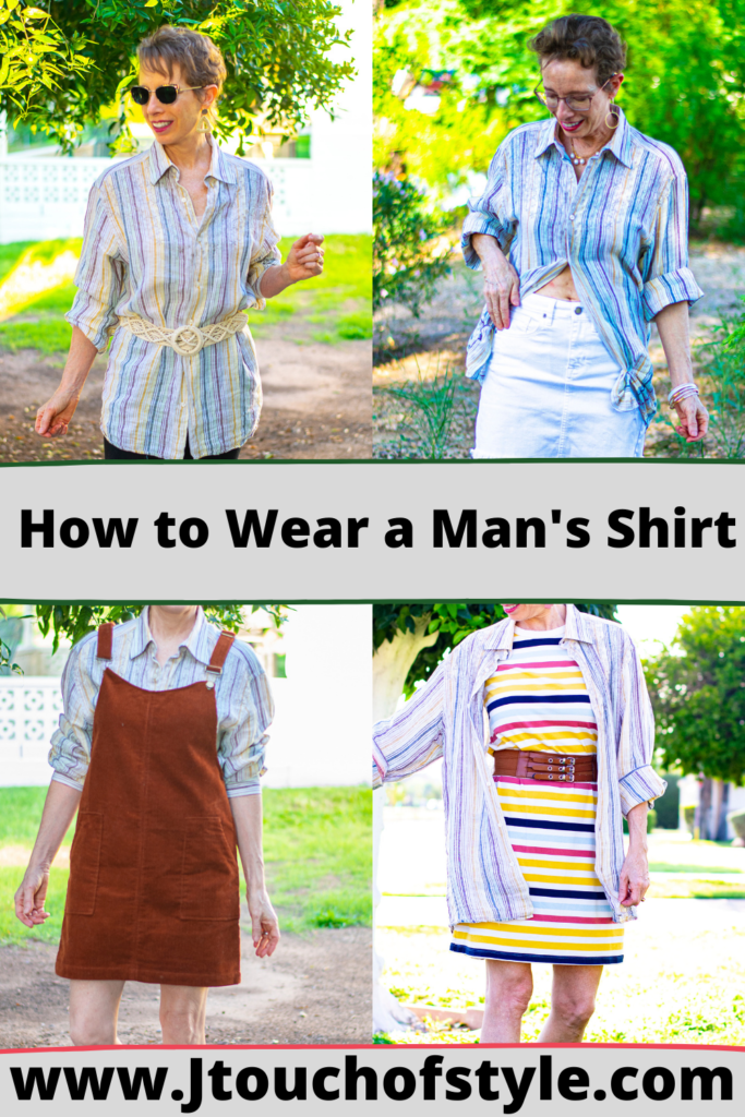 How to wear a man's shirt