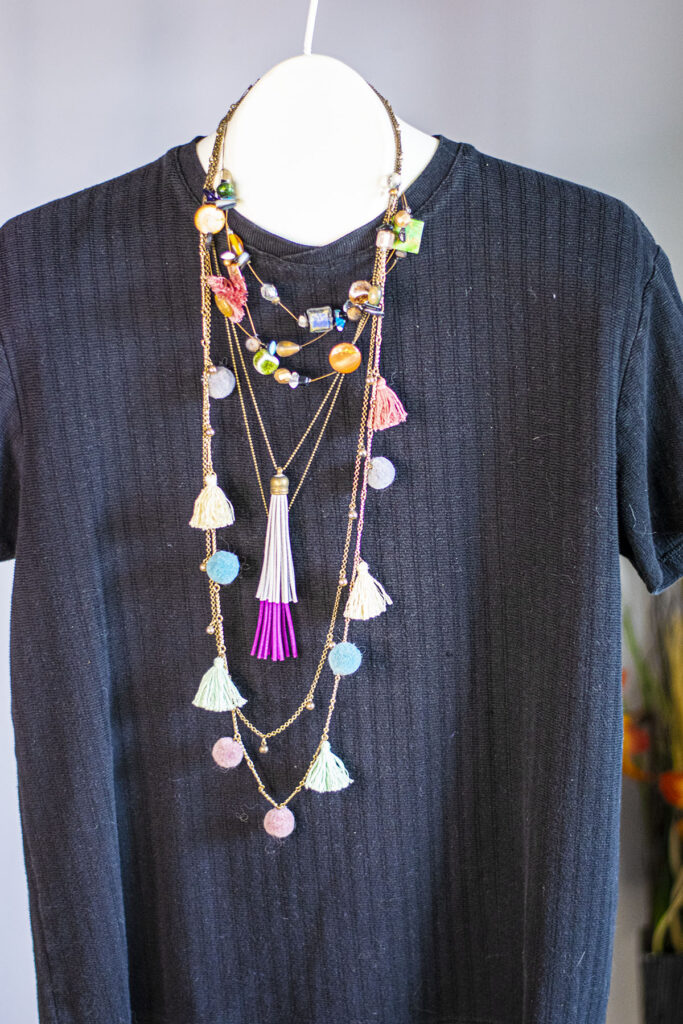 Layering necklace ideas with tassels