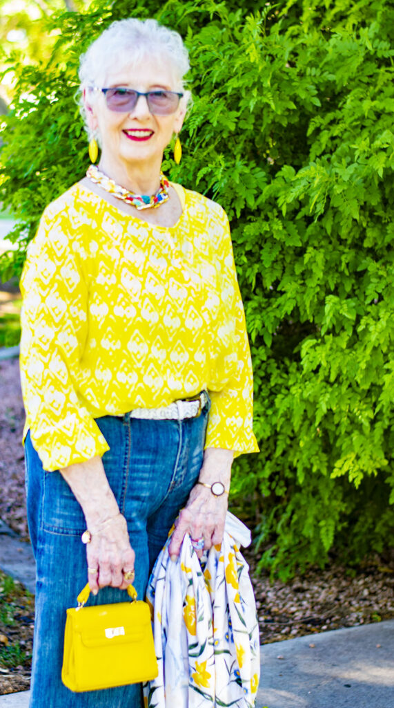 Woman over 80 for how to wear summer clothes in fall