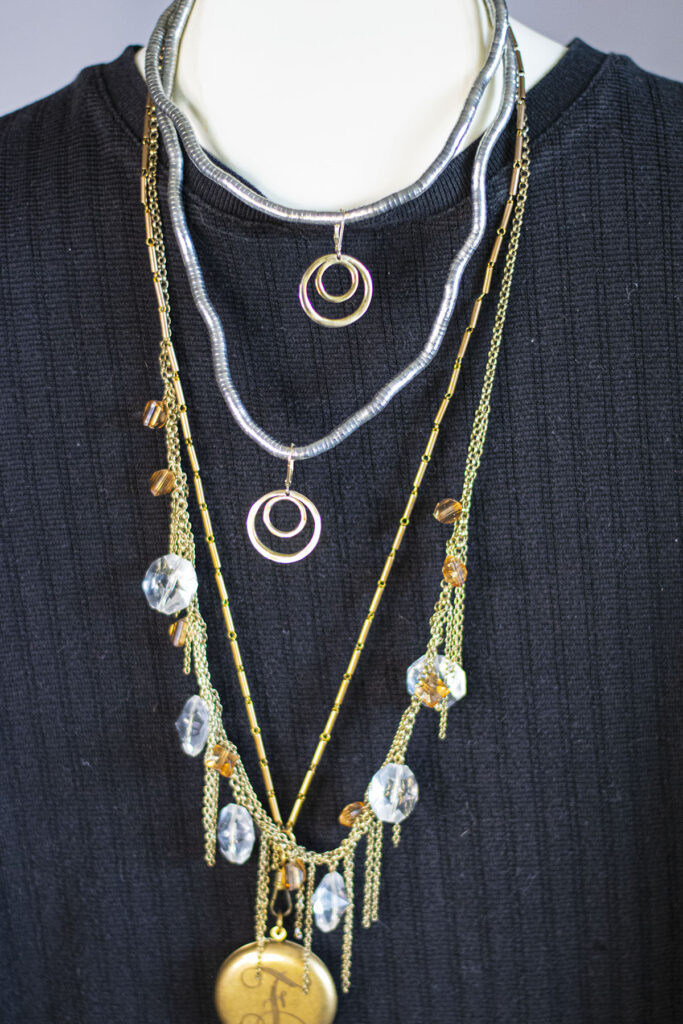 Add earrings to a necklace grouping
