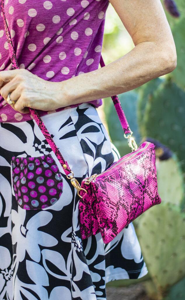 Snakeskin cross body purse