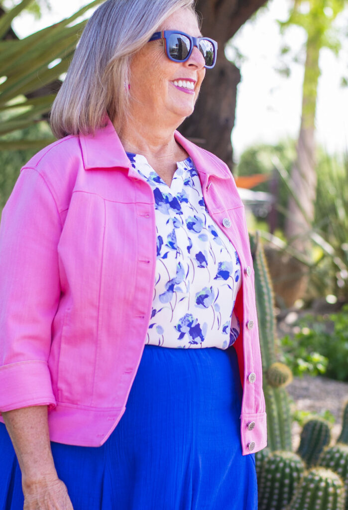 Denim jacket for older women