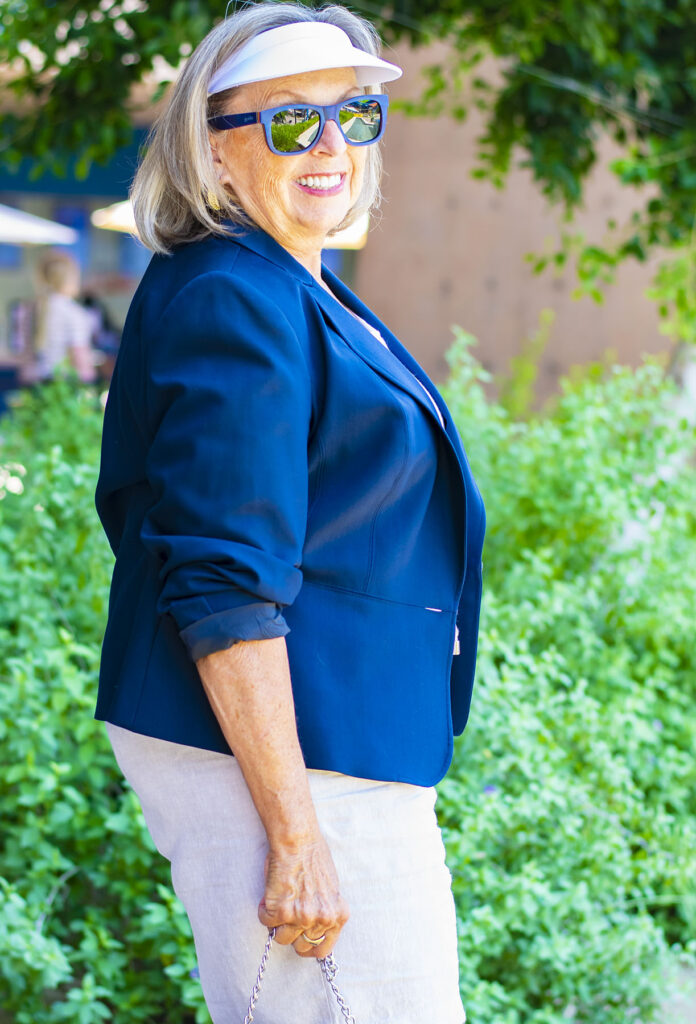 Casual and chic with a blazer for women over 70