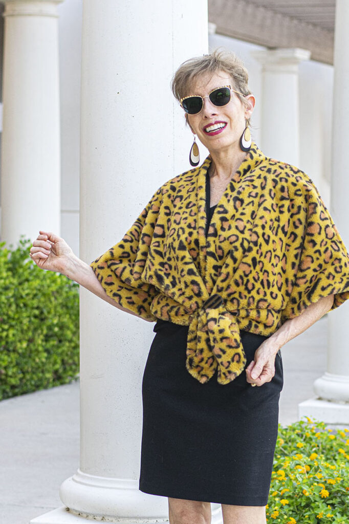 Creative way to style a leopard coat