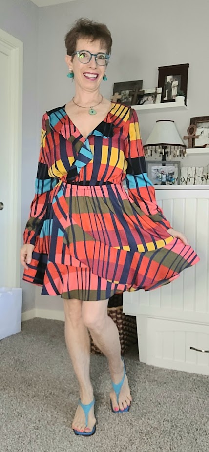 Daily outfits with bright dress