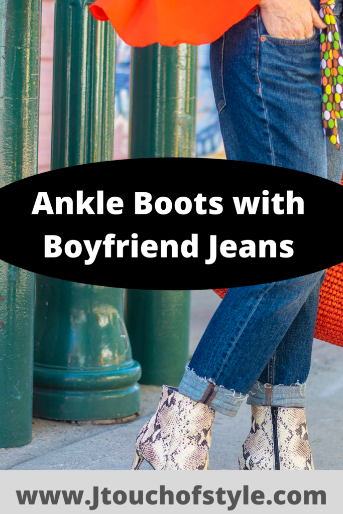Ankle boots with boyfriend jeans