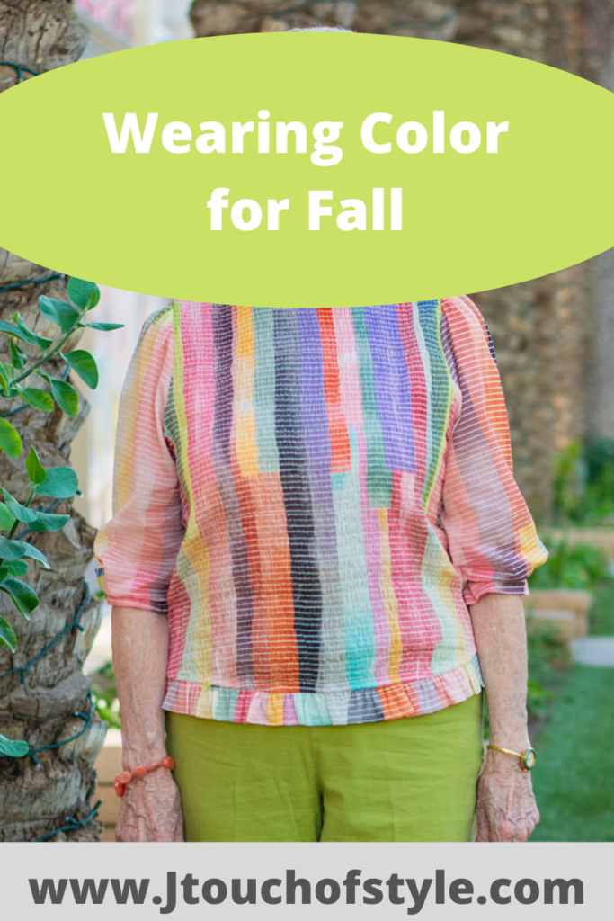 Wearing color for fall