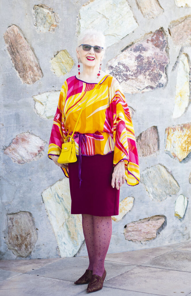 Bright colors for older women