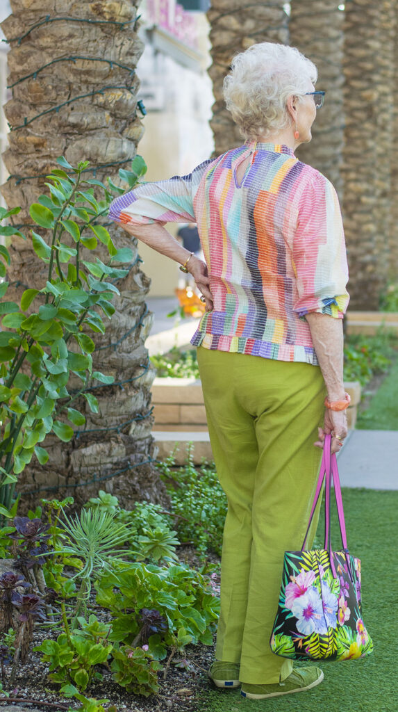 Women over 80 wearing color