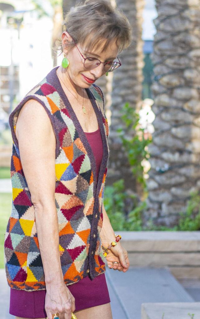 Hand knit sweater vest