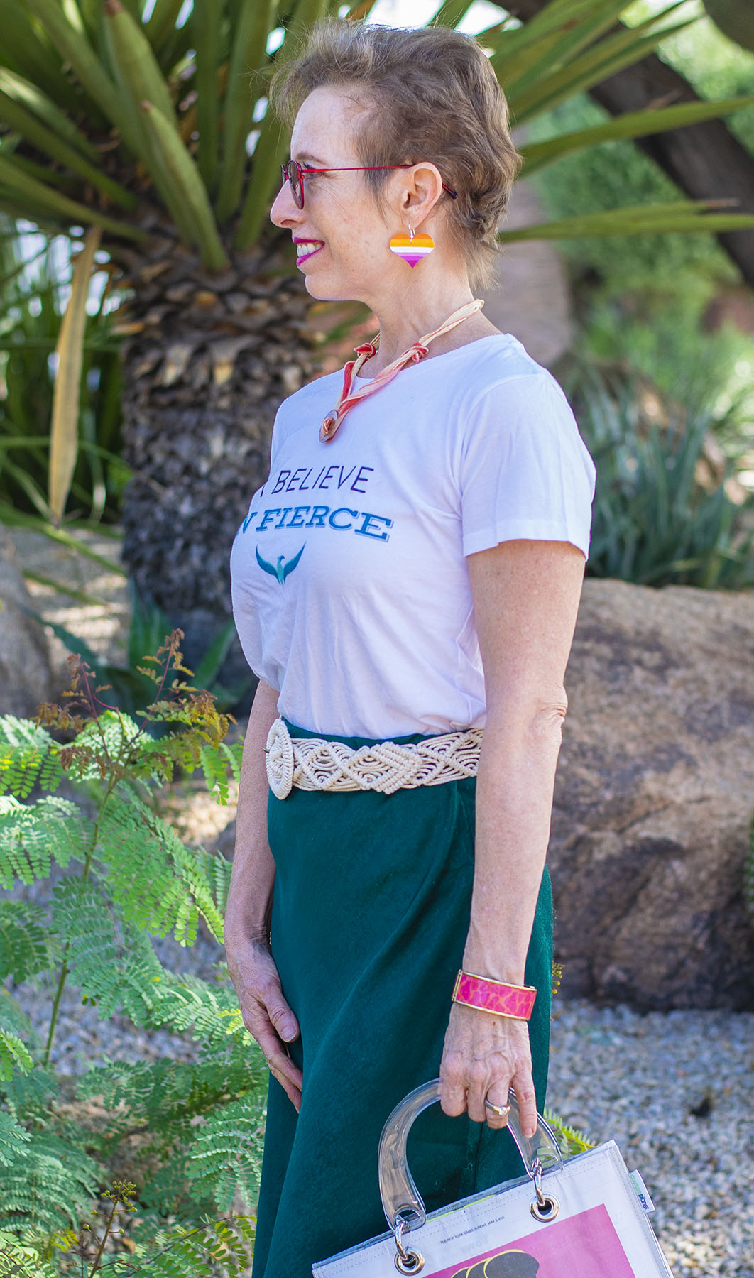 Over 50: How to Style a Midi Skirt