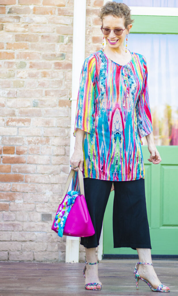 Tunic idea for what top to wear with culottes