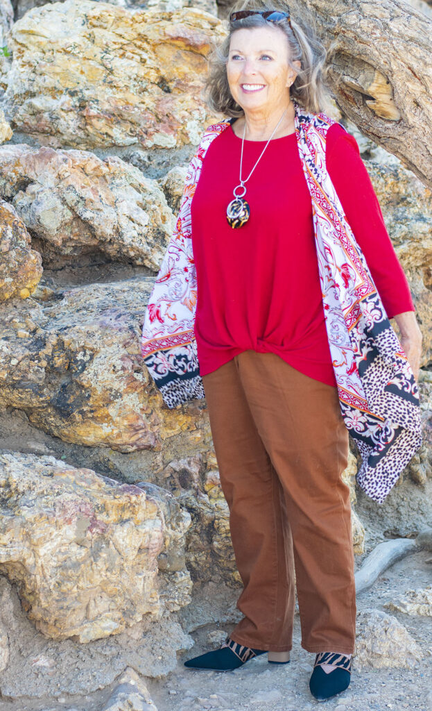 Animal print mules outfit