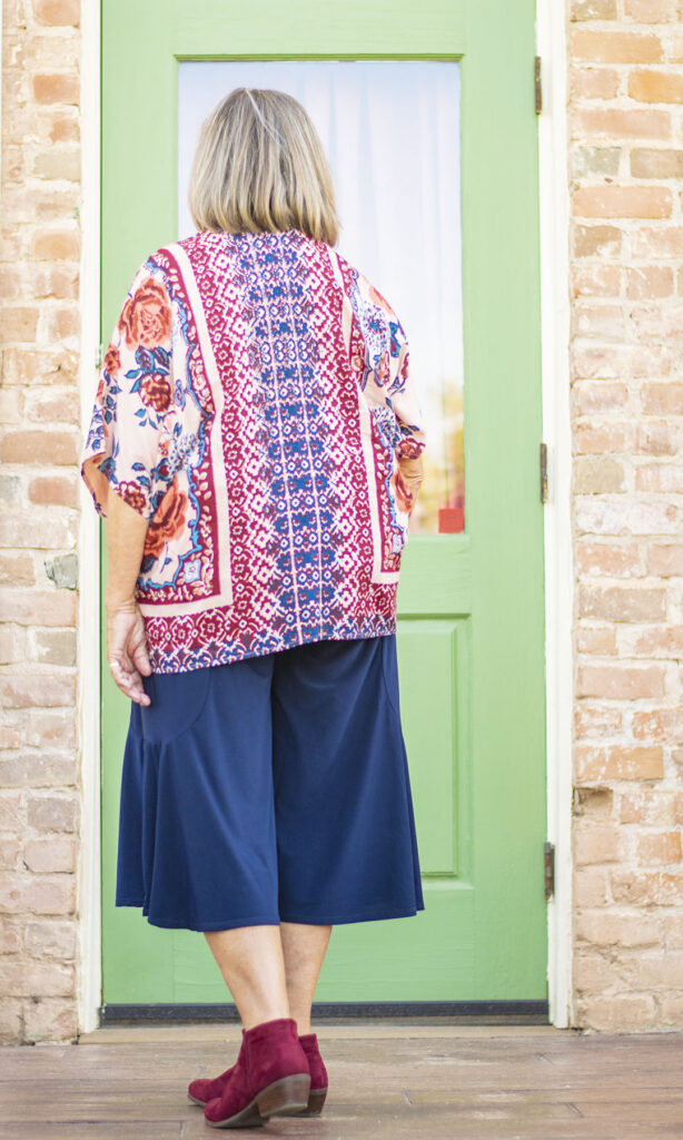 Wide leg culottes with ankle boots