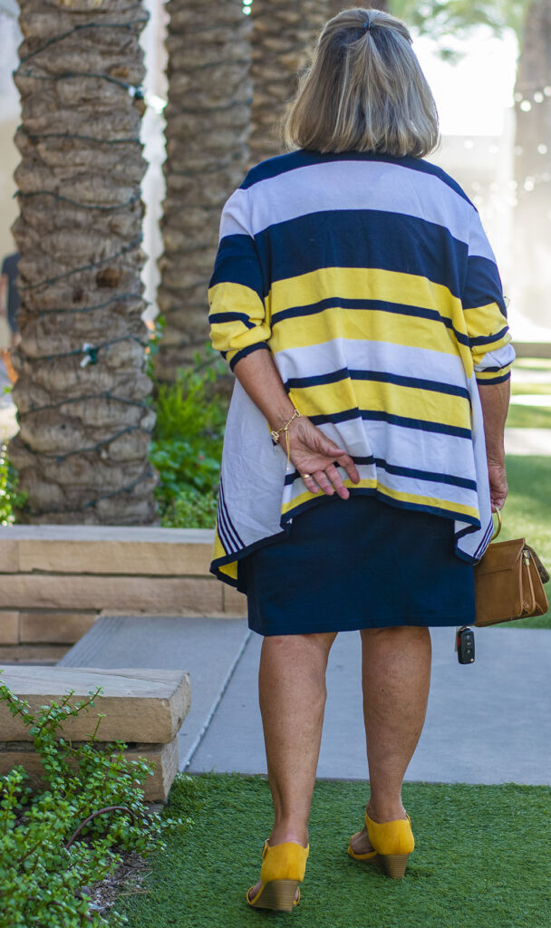 Navy, yellow and white color combination