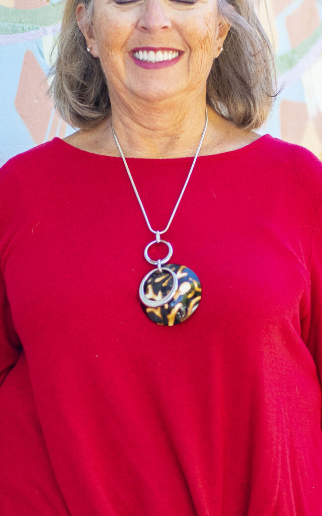 Statement necklace as a focal point