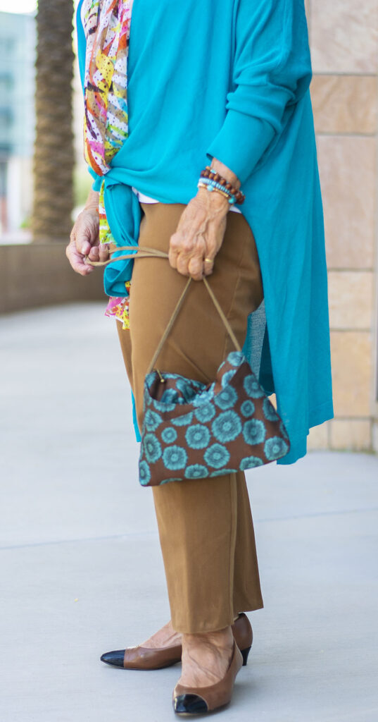 Blue Zircon colors to wear with brown