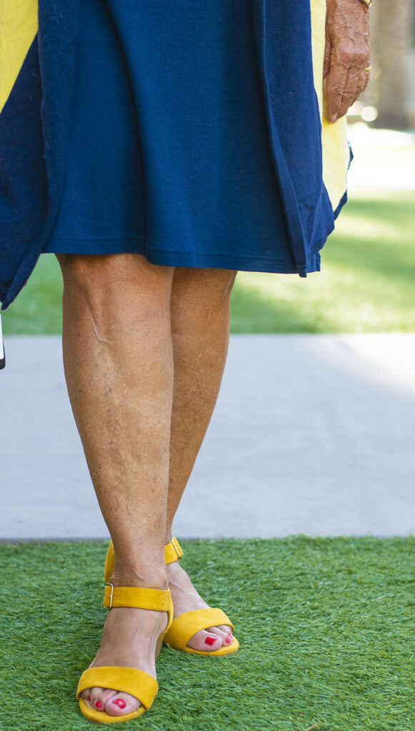 Yellow shoes for fall style