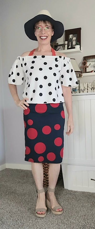 Daily outfits with double polka dots