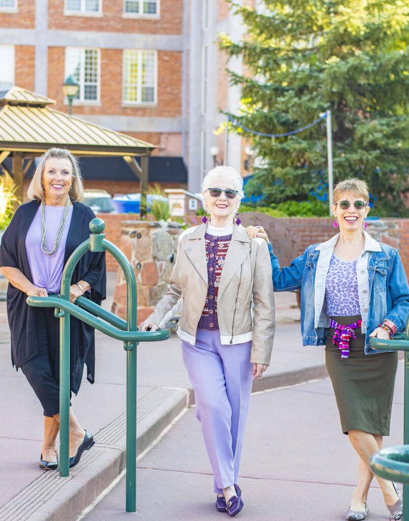 Older women in lilac