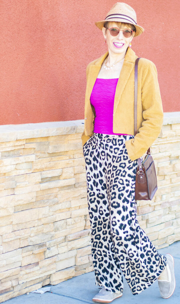 Print pants and shoes that go with everything